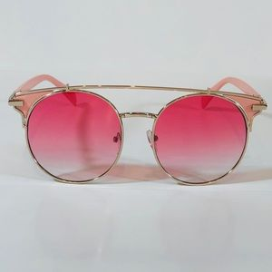 Other - Gold/Pink Browbar Sunglasses